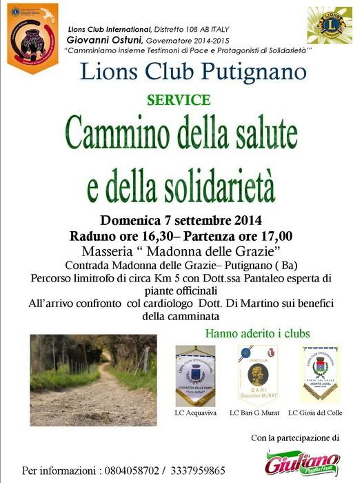 Lions_Putignano_Cammino_salute_e__solidarieta