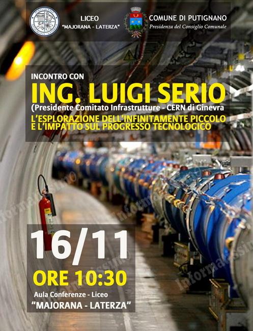 Dal Cern a Putignano: incontro con l'ing. Luigi Serio - Putignano Informatissimo