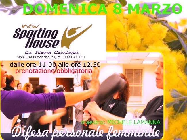 New_Sporting_House_festa_della_donna