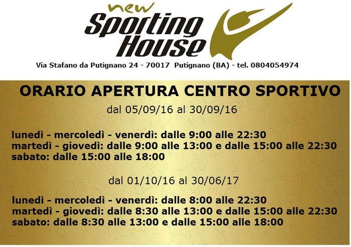 Sporting_House__-_Orari