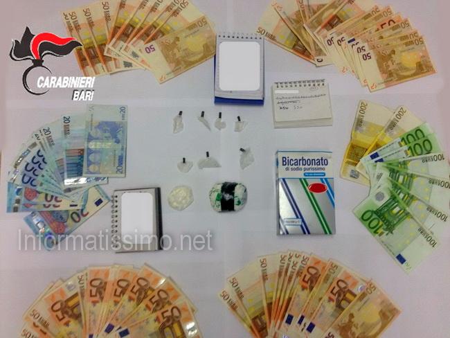 CC_Castellana_droga_e_denaro_sequestrato