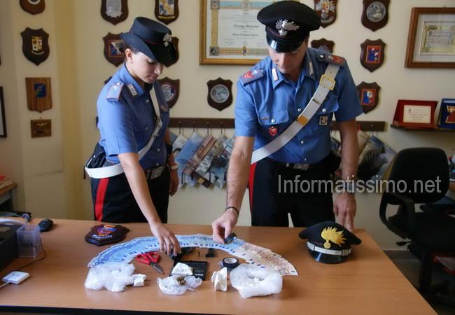 CC_Gioia_del_Colle_cocaina_e_pistola