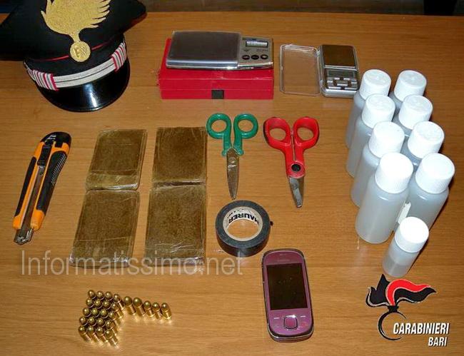 CC_Gioia_droga_e_cartucce_sequestrate