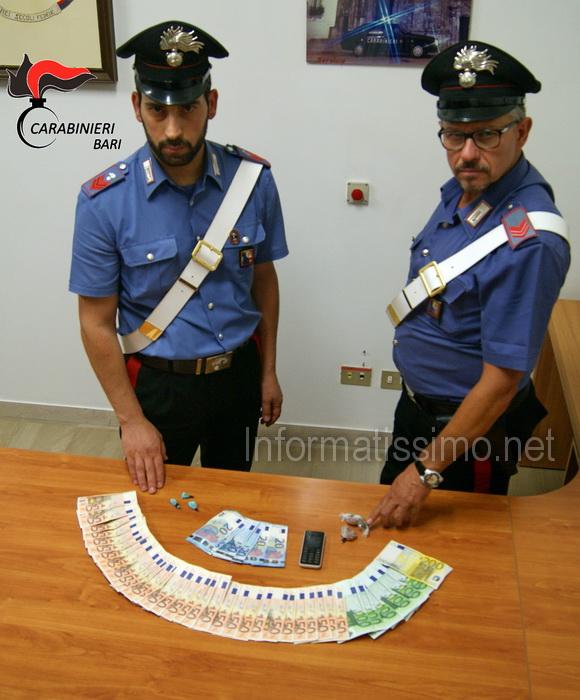 CC_Putignano_-_Droga__e_denaro_sequestrati