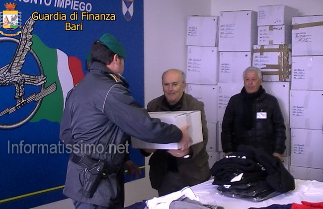 GdF_Bari_capi_devoluti_in_beneficienza