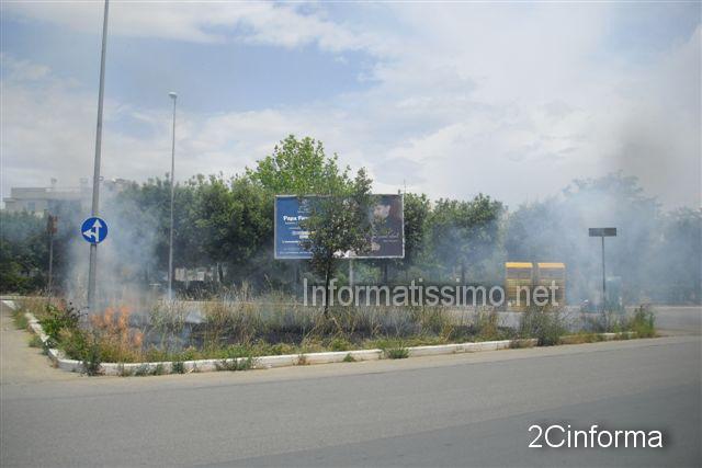 Incendio_sterpaglie_parco_Almirante