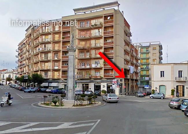 Largo_Porta_Nuova_la_freccia_indica_Via_Nicola_Losavio