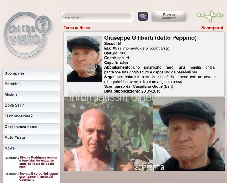 Scomparso_-_Giuseppe_Giliberti_Putignano