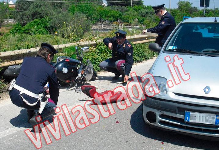 L' intervento della Polizia Stradale di Castellana Grotte