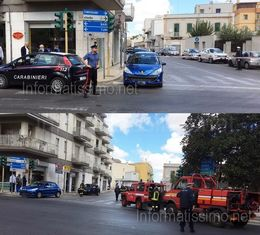 Botto con fuga di gas Via Conversano