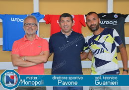 New Team Putignano Mister Monopoli il ds Pavone e Guarnieri