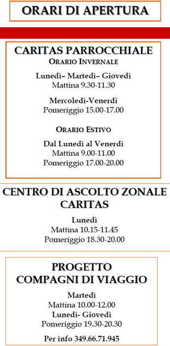 Caritas_Diocsana_Putignano_orari