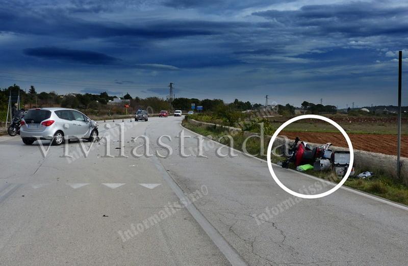 Incidente sulla provinciale per Gioia a Putignano: centauro finisce in ospedale - Putignano Informatissimo