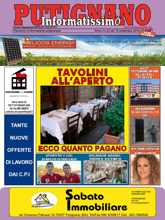 Informatissimo Putignano N.22 - 10 Settembre 2010